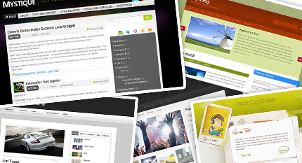 Screenshots von kostenlosen WordPress Themes