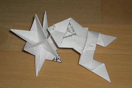 Frosch und Stern - Origami