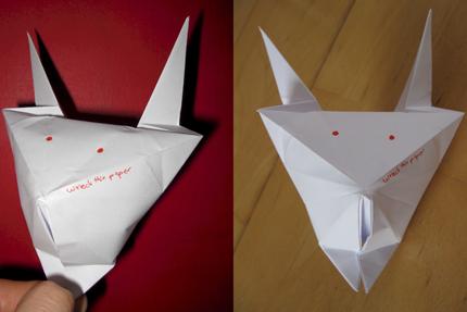 Katze/Teufel - Origami