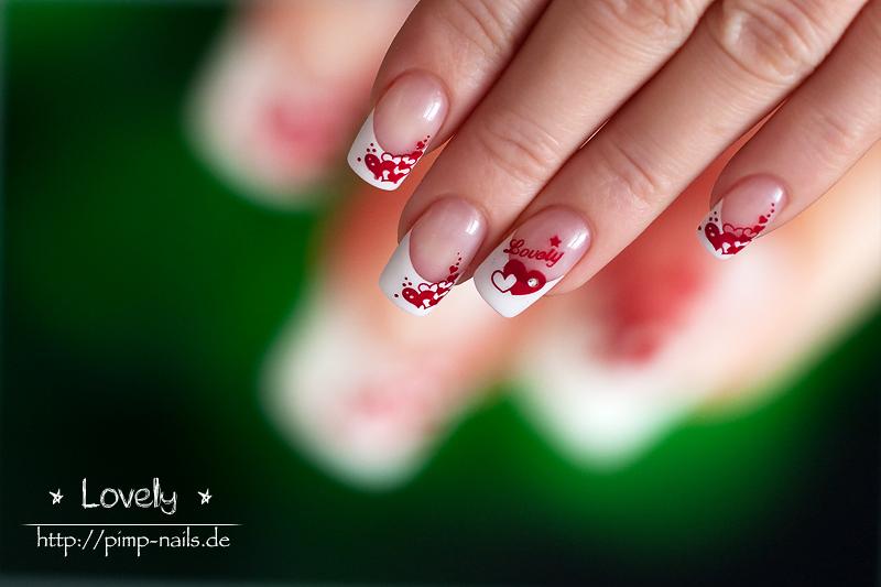 Nailart design lovely herzen french 430x286 nail art lovely