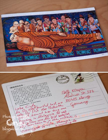 Postkarte aus Penang - Malaysia