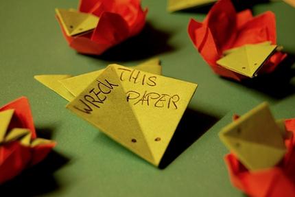 Frösche auf Blüten - Origami