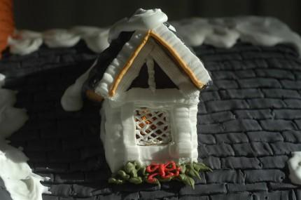 beleuchtetes Lebkuchenhaus - Fenster