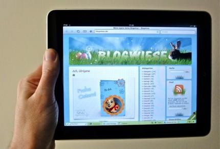 Blogwiese auf einem iPad