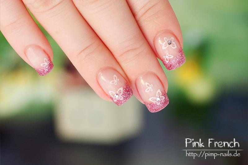 Pink French Nail Art