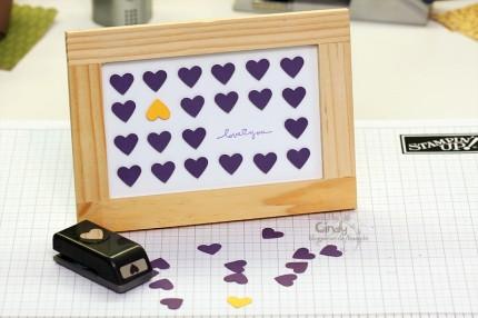 Handgemachtes Herzbild mit Rahmen