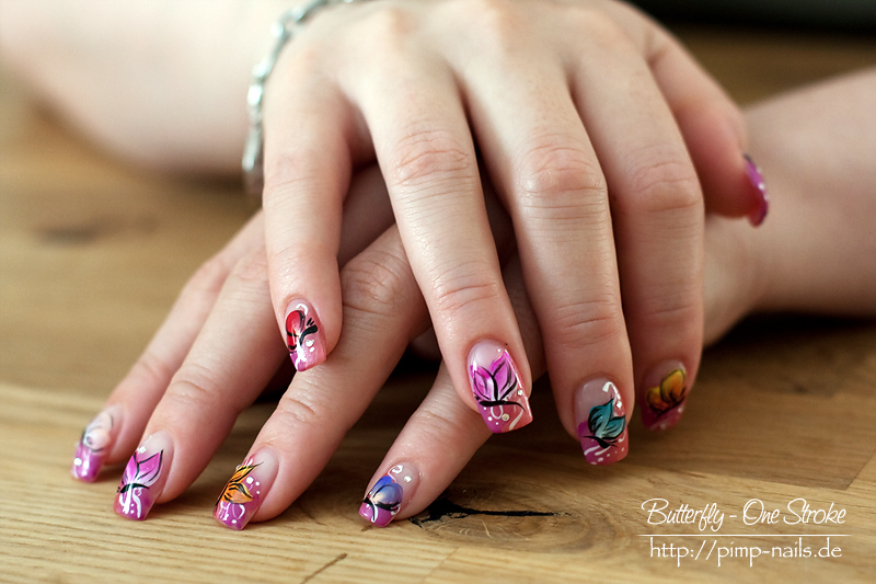 Nail Art – Butterfly – One Stroke | Blogwiese