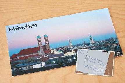 Postkarte aus München