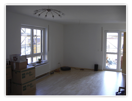 2. Foto vom Wohnzimmer - Fertig zum Einzug